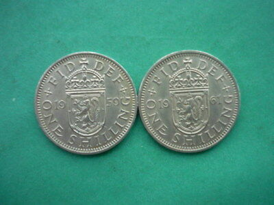 Scottish Shillings 1959 and 1961 (Scarce Dates)