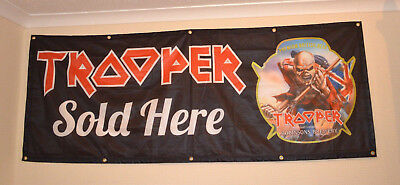 Robinsons Trooper Iron Maiden Beer Advertising Banner *NEW**