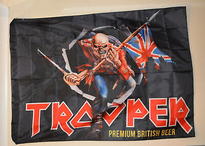 Robinsons Trooper Iron Maiden Beer Flag *NEW**