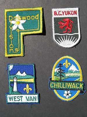 Boy Scouts Canada 4 B.c. Yukon West Van Chilliwack Dogwood Division Patches