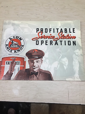 1941 40 Page Book Lion Oil Refining Company Profitable Service Station Operation