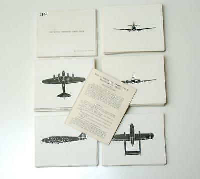 Wwii Aircraft Recognition Cards Complete Set Observer Corp Class 1&2 Proficiency