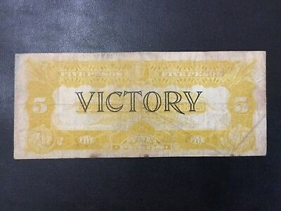 1944 Usa Philippines Paper Money - 5 Dollars Banknote !