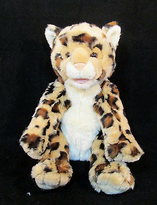 "15"" Build-A-Bear Workshop BABW Plush Spotted Leopard 2010- Stuffed Animal WWF 3+"