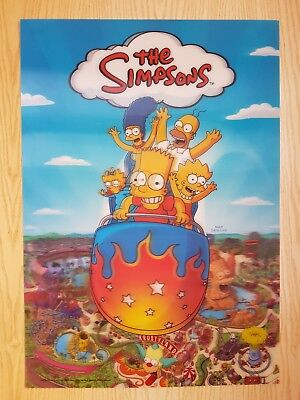 Large Simpsons lenticular 3D poster