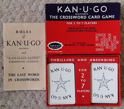Vintage Kan-u-Go card game complete with 60 cards - dates from 1930s-1950s
