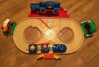 Fisher Price Little People Motorized Train - Figures - Track Etc