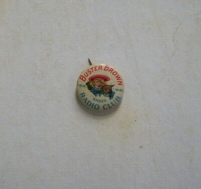 Vintage Buster Brown Shoes Radio Club Celluloid Pinback