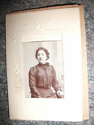 Small Photo in an ornate card that opens up - Best wishes on insert with Ribbon