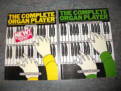 The Complete Organ Player x 2: Book 2 + Left Hand & Toe Book 1. 40 Pieces Music.