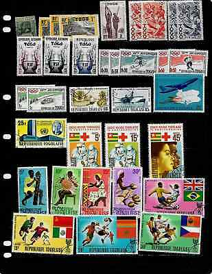 Togo: Nice Large Stamp Collection Displayed On 10 Sheets. See Scans