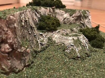 Rocky scenery mountain model railway diorama N or OO Gauge