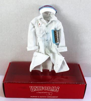 Vintage Dept 56 Nurse Outfit Christmas Ornament: Thermometer Chart Dress Cap BOX