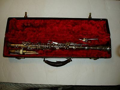 Vintage Stanton  Silver Clarinet With Brilhart Tonalin Mouthpiece And Case