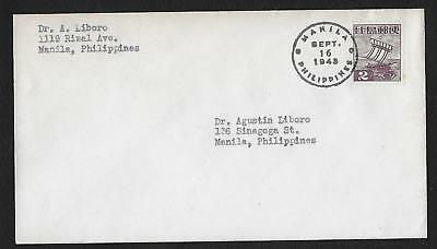 Manilla Philippines Ww2 Japan Japon 1943 Lettre Cover