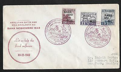 Manilla Philippines Ww2 Japan Japon Baha 1943 Lettre Cover
