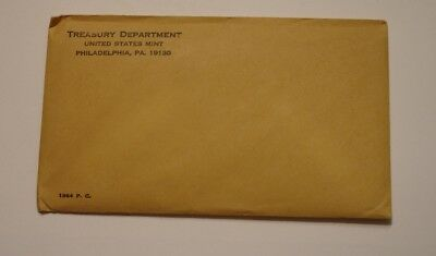 1964 United States Mint Proof Set UNOPENED SEALED ENVELOPE nice 100% Original