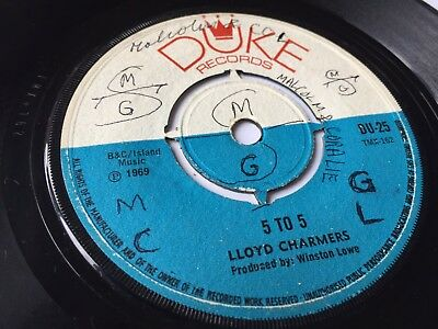 "Lloyd Charmers / The Soul Stirrers, 5 To 5 / Come See About Me 1969 7"" Duke"