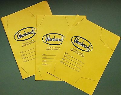 Vancouver WOODWARD'S schoolbook covers - 2 kraft school book covers
