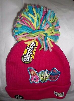 nwt-Girls-Moose-Shopkins-2 Piece Cold Weather Set-Hat-Gloves-pink-osfm