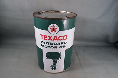 Vintage Texaco Outboard Motor Oil Can.Tin,Excellent Condition,Boat Motor Graphic
