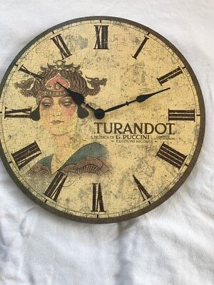 "Wall Clock 14"" Turandot Picture"