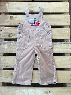 Vintage Boys Corduroy Overalls Dungarees