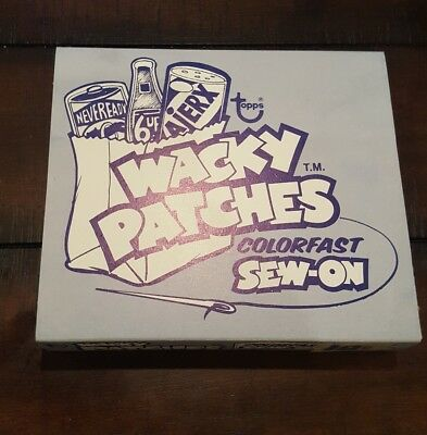 1974 vintage Wacky Packages full patches box with 2 patch sets beautiful