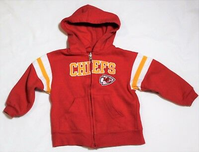 KC CHIEFS NFL TEAM Apparel Kids 3T Hooded Jacket Zippered Front