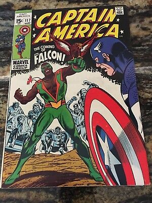 Captain America #117 1969, Marvel, High Grade Issue  OW Pages, Falcon  NO CGC