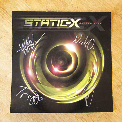 SIGNED STATIC-X Shadow Zone Promo Poster - Wayne Static Autograph - 2003