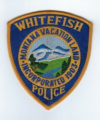 Whitefish (Flathead County) MT Montana Police Dept. patch - Nice *Cloth Back*