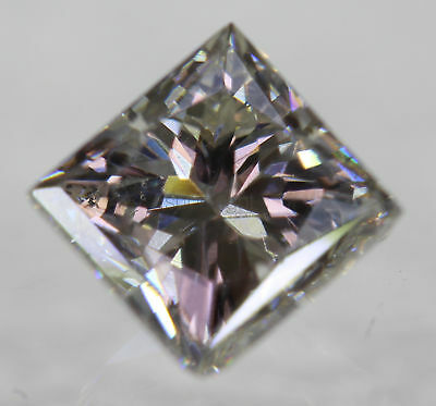 Certified 0.99 Carat G VS1 Princess Enhanced Natural Diamond 5.22x5.1mm VG VG
