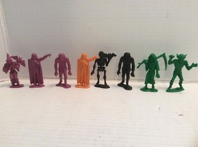 Vintage 1960s MPC plastic Toy Monsters Lot Of 8 Rare