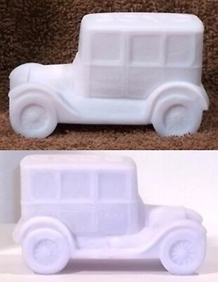 Boyd Glass Made in 1994 Taxi Cab Car FROSTED SATIN Pastel Milk Pink FUND