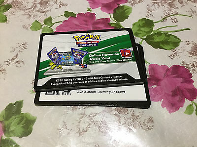 Pokemon Sun&Moon Burning Shadows Booster Pack Codes-$1.00 for two online codes