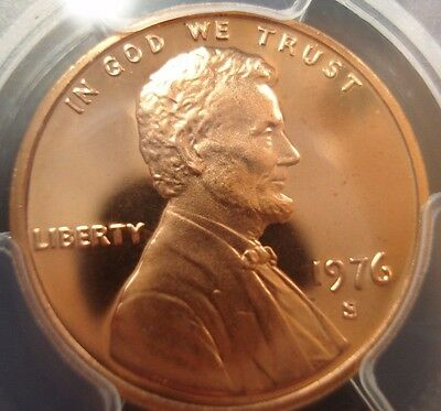 1976-S Lincoln Memorial Cent PCGS PR69RD Red DCAM 33137257 09022017