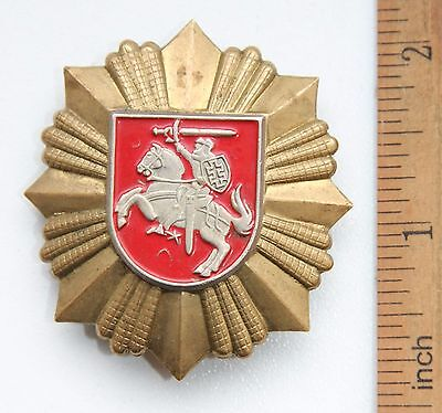Lithuania Army Military Uniform Hat Cap Badge Cockade