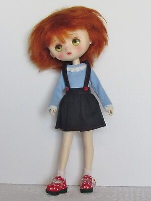 JerryBerry Company Blue suspender skirt with t-shirt outfit