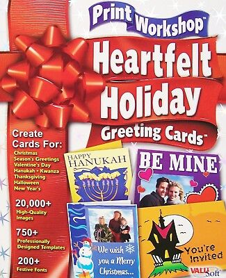 (Brand New) Print Workshop: Heartfelt Holiday Greeting Cards - PC Software