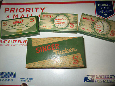 Vintage Lot Of Singer Style Discs For Singer Sewing Machines Good Cond.