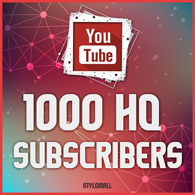 1000 Youtube-Subscribers No Drop Hq | 100% Safe & Fast Youtube Service