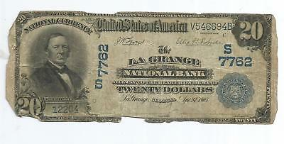 $20 National Currency Bank Note LaGrange Georgia 1902 Series Blue Seal