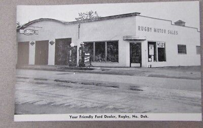 RUGBY  NORTH DAKOTA THE FREINDLY FORD DEALER RED CROWN GAS PUMPS ford sign