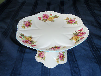 "Shelley  "" Begonia"" Pedistal Compote/Cake Plate"
