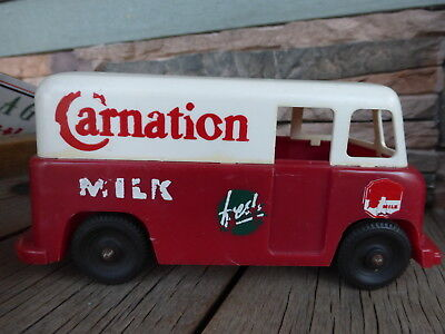 Carnation Milk dairy truck plastic bank cool old truck
