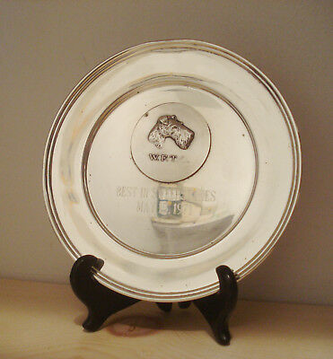 """1971 """"Best in Sweepstakes"""" WFTC Wire Fox Terrier Club Dog Sterling Silver Trophy"""