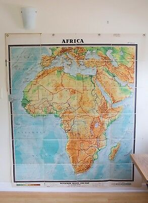 "Denoyer Geppert Antique Colorful Africa Map - Huge Wall Map - 65""x74"""