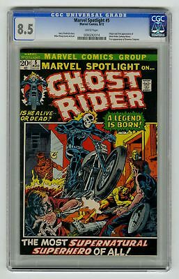 Marvel Spotlight #5 CGC 8.5 HIGH GRADE Marvel Comic KEY 1st Ghost Rider VINTAGE