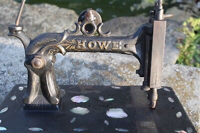 Antique 1860's -1870's Mother of Pearl Decorated Howe Sewing Machine